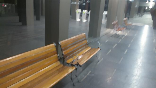 empty benches